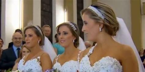 Identical Triplets Rafaela, Rocheli, And Tagiane Bini