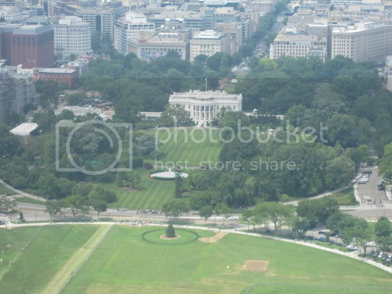 view of white house from washington memorial