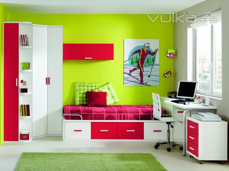 Cómo decorar la casa: Colores de dormitorios juveniles