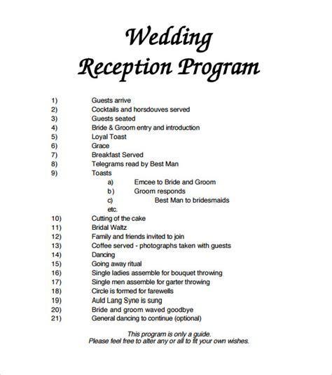 Sample Wedding Program Template   11  Documents in PDF