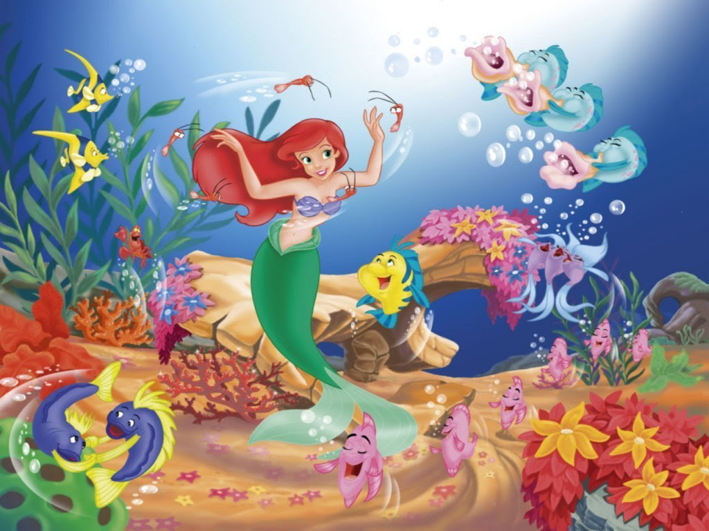 The Little Mermaid Wallpaper the little mermaid 6260676 1024 768