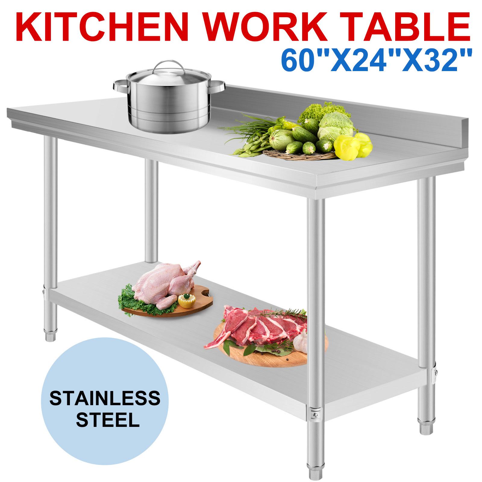 New Stainless Steel Kitchen Restaurant Work Bench Food ...