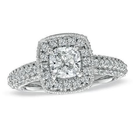 Cushion Cut Diamond Engagement Rings Zales   Engagement