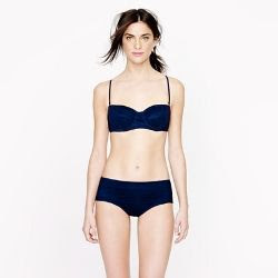 J.Crew Tulle Underwire Bikini Top and Retro Hipster