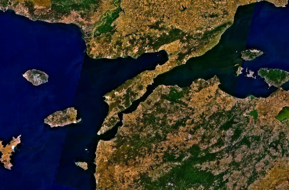 NASA: Gallipoli in Turkey from space