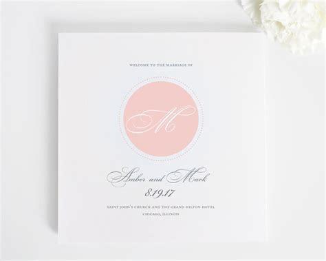 Circle Monogram Wedding Programs   Wedding Programs by Shine