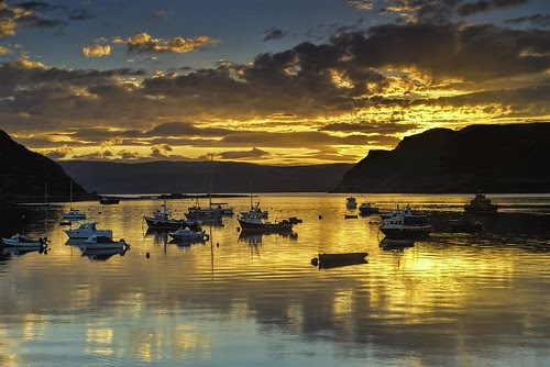 Portree Harbour Sunrise by Fraser Ross