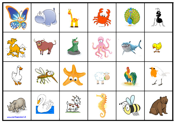 Tombola degli animali da stampare portalebambini for Tombola di natale da stampare