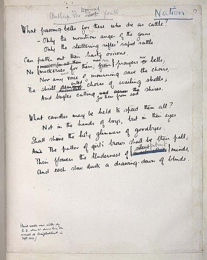 Siegfried Sassoon And Wilfred Owen The Best Poems Of The Great War