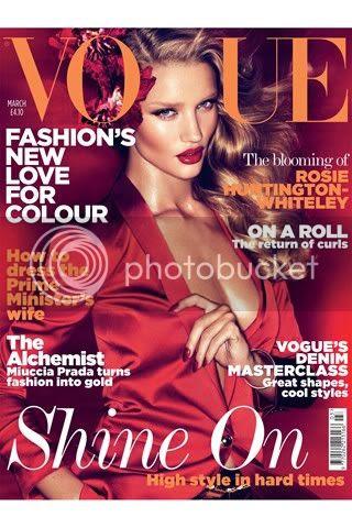 Rosie Huntington-Whiteley on Vogue UK Cover