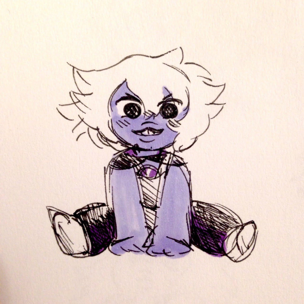 80s amethyst is the cutEST THING EVER AAAAAH and oh sorry for the messy drawing • about requests and stuff- you can ask me to draw some touhou or su thing, but it really depends if its a character i...