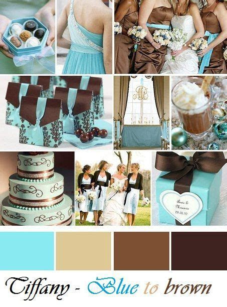 Ideas for wedding day   Blue to brown   Tiffany