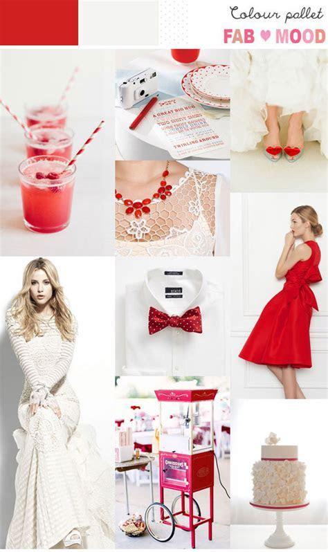 Poppy Red & White Inspiration Board 1   Fab Mood   Wedding