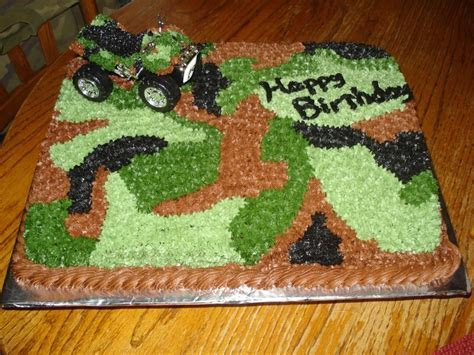 4 wheeler camo cake   boys birthday party   Pinterest