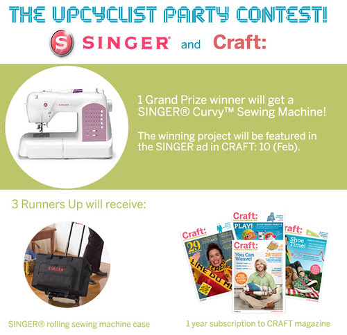 Craft Magazine: singer upcycle contest