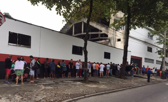 Fila Gávea Flamengo (Foto: Cahê Mota)