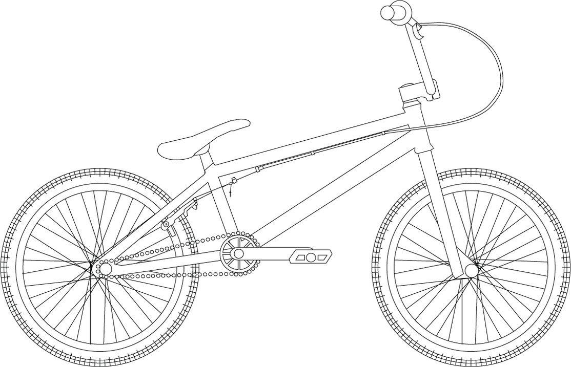 Dessin Un joli coloriage bicyclette