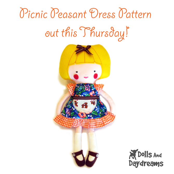 Picnic peasant dress pattern release copy