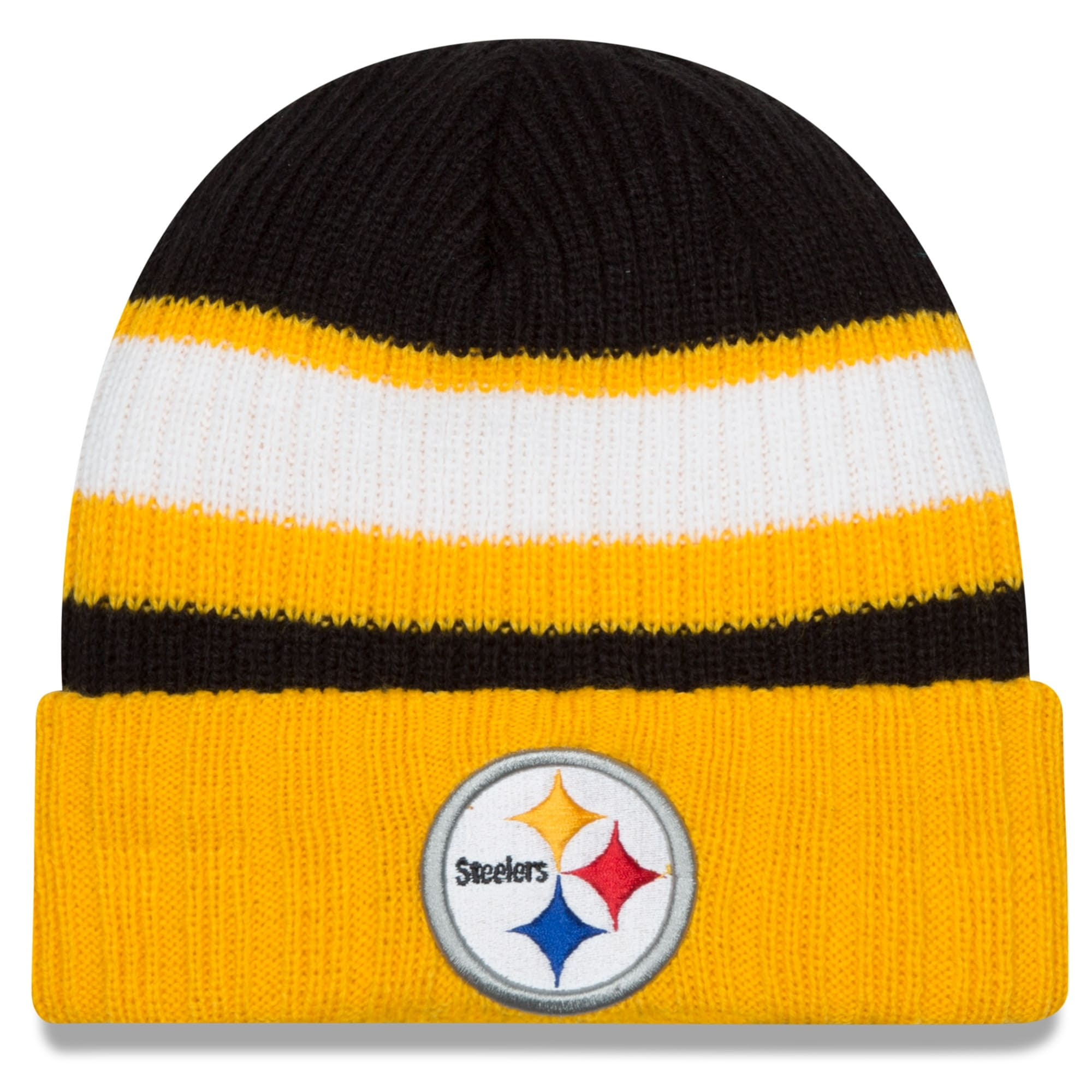 Pittsburgh Steelers New Era Rib Start Cuffed Knit Hat -