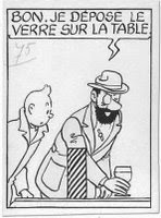 Tintin, vignetta singola scomparsa del 1944 - copyright Hergé-Moulinsart