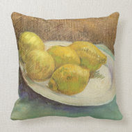 Still Life with Lemons on Plate; Vincent van Gogh throwpillow