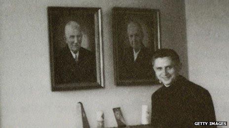 Fr Joseph Ratzinger pictured in 1959