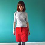 Red Moss Skirt