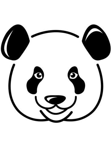 Disegno Di Muso Di Panda Da Colorare Disegni Da Colorare E