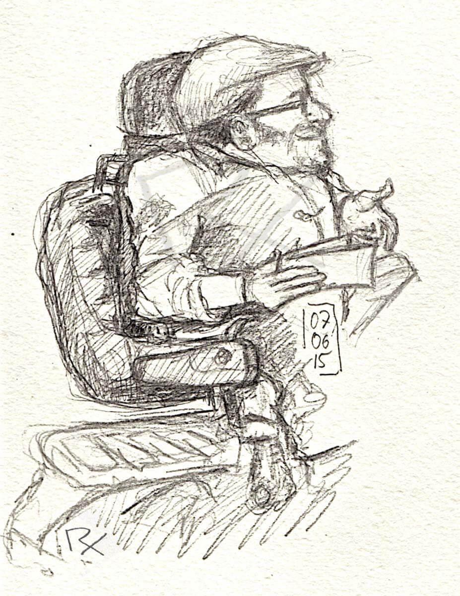 Raul Krauthausen (Zeichnung: Patricia Rex)
