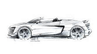 Audi R8 GT Spyder Design Sketch 2   Supercar Sketches