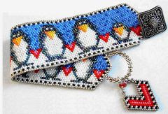 Penguins on Parade Bracelet Beading Pattern - A project from Bead-Patterns the Magazine Issue 8 (Nov/Dec 2006) Fabulous Fall
