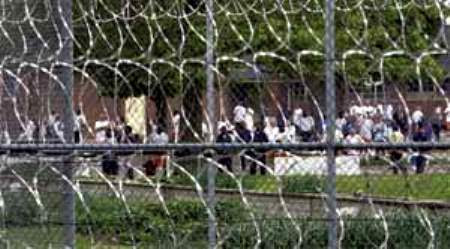 Prisoners in Lakeland Correctional Facility yard.