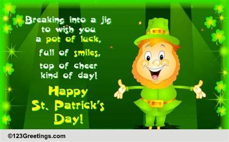 St. Patrick's Day Cards, Free St. Patrick's Day Wishes