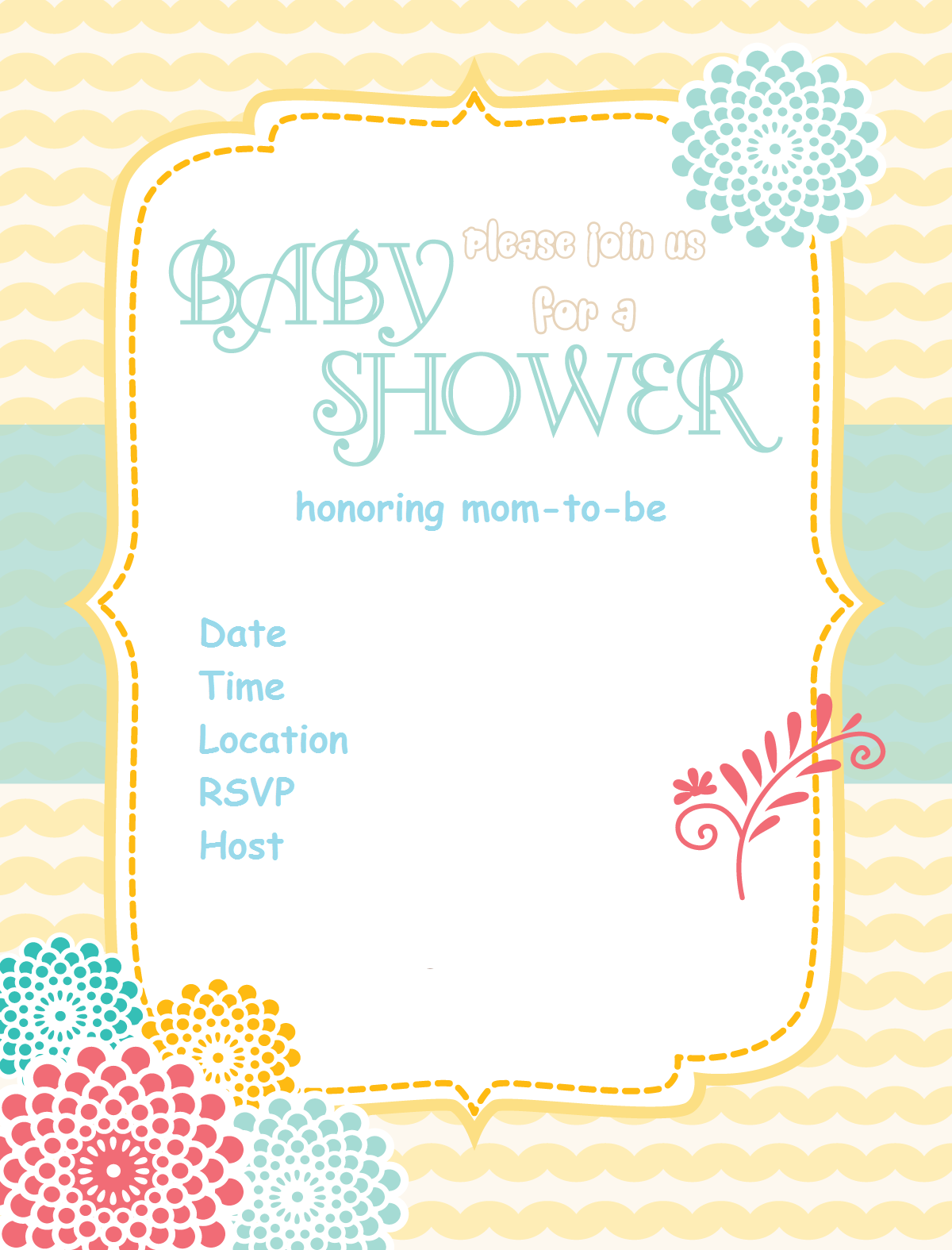 26 Luxury Free Baby Shower Evites