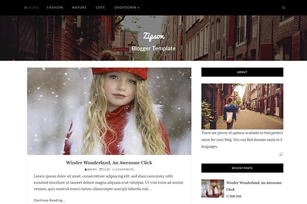 Zipson Responsive Blog Template