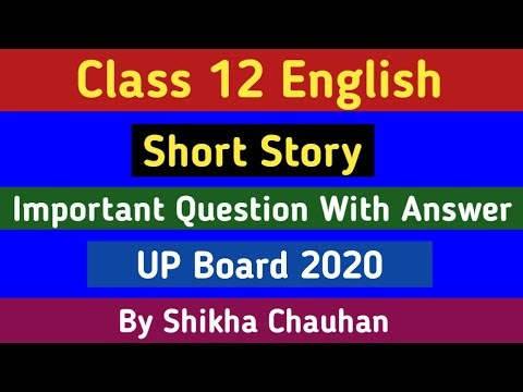 UP Board Class 12th Short Story Important Questions With Answear