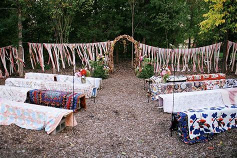 Outdoor wedding seating Alternative Megan   Elijah