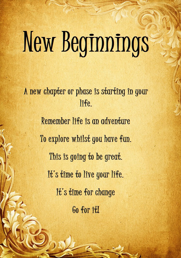 Quotes About Beginning A New Life 65 Quotes