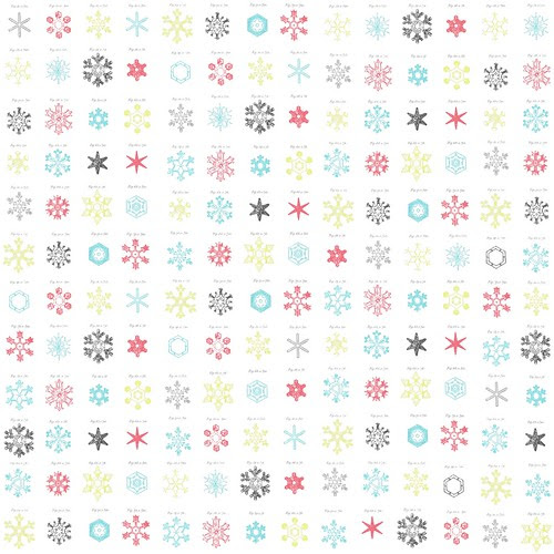 snowflake snow crystals distress paper LARGE SCALE 12 and a half inch square 350dpi