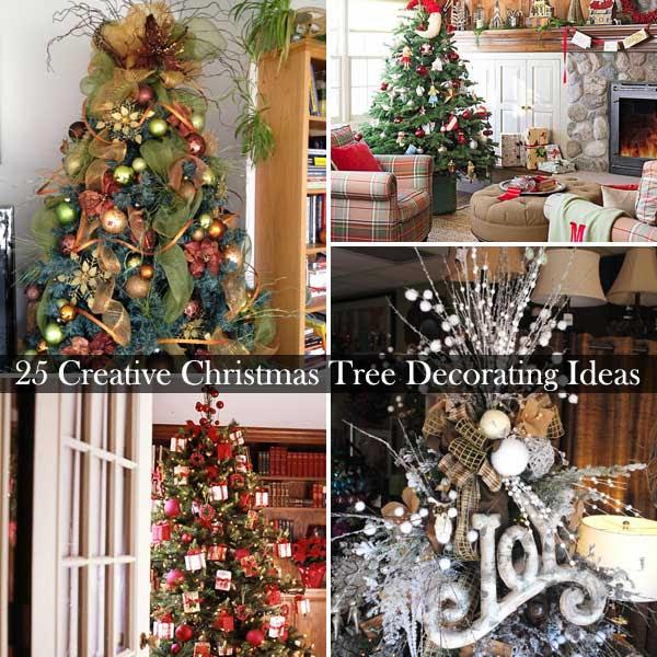 25 Creative and Beautiful Christmas Tree Decorating Ideas | WooHome