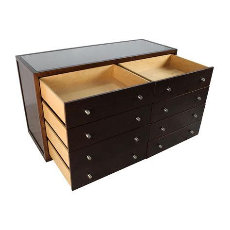 custom custom solid wood glass top dresser storage