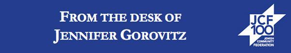 From the Desk of Jennifer Gorovitz