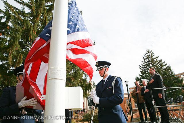 Honoring Veterans Flag Raising-14