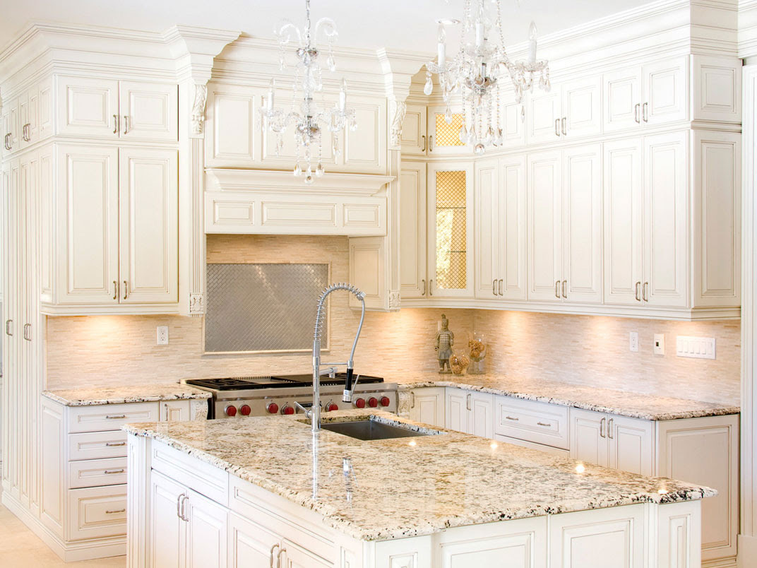 Beautiful White Kitchen Cabinets with Granite Countertops ...