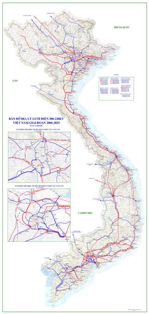 bản đồ quy hoạch điện Việt Nam