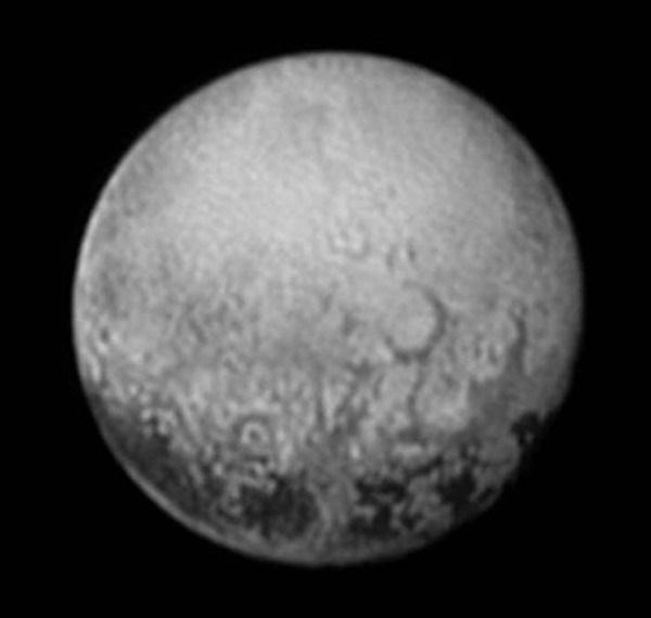 An image of Pluto that was taken by NASA's New Horizons spacecraft from a distance of 2.5 million miles (4 million kilometers) on July 11, 2015.