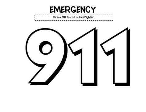 Coloring Pages Printable 911 Creative Art