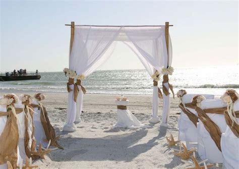 Burlap at a Suncoast Weddings rustic ceremony on Pass a