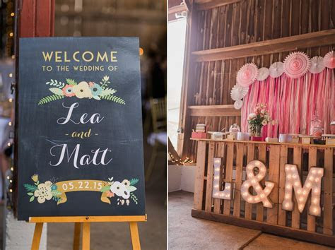 Barn Wedding Decor   A Romantic Modern Vintage Wedding