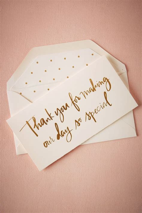 Foil Script Thank You Card from BHLDN   Paper Goods